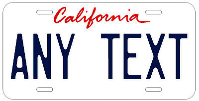 Personalized Custom California State White License Plate Name Novelty Car Tag