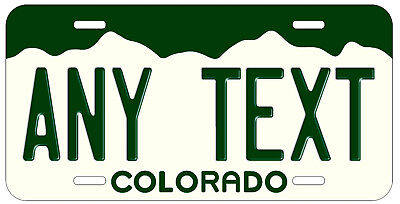 Personalized Custom Colorado Vintage State License Plate Name Novelty Car Tag