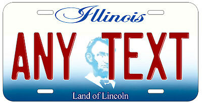Personalized Custom Illinois State License Plate Any Name Novelty Auto Car Tag