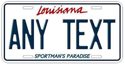 Personalized Custom Louisiana State License Plate Any Name Novelty Auto Car Tag