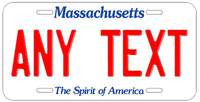 Personalized Custom Massachusetts State License Plate Name Novelty Auto Car Tag