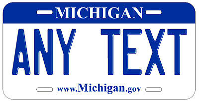 Personalized Custom Michigan State License Plate Any Name Novelty Auto Car Tag