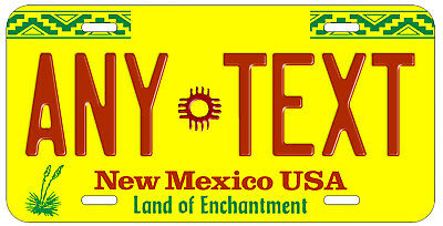 Personalized Custom New Mexico State License Plate Name Novelty Auto Car Tag