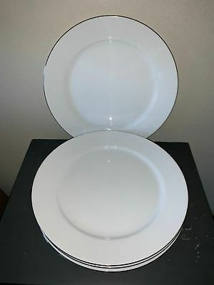 Prime Charter Club Grand Buffet Fine Line Platinum Set Of 4 Dinner Plates 11 1 2 Home Interior And Landscaping Transignezvosmurscom