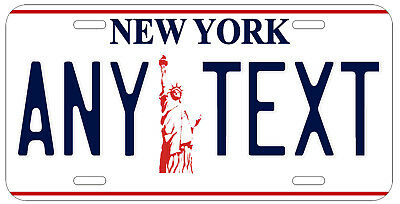 Personalized Custom New York Liberty State License Plate Name Novelty Car Tag