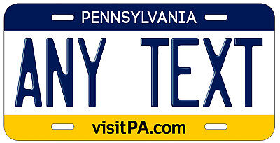 Personalized Custom Pennsylvania State License Plate Any Name Novelty Car Tag
