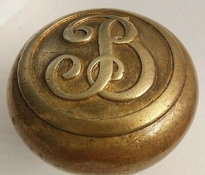 Antique Door Knob Victorian Eastlake Letter B Emblematic Biltmore Hotel New York