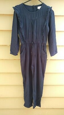 Girls Age 10 PUMPKIN PATCH NAVY JUMPSUIT GOOD USED CONDITION