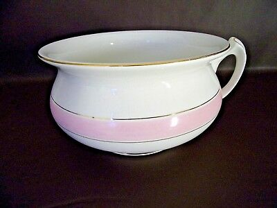 Antique 1916 Edwin M. Knowles Vitreous China Chamber Pot (Cat.#15T006C)