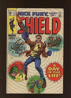 Nick Fury Agent of SHIELD 14 FN+ 6.5 * 1 Book * A Day in the Life of Nick Fury!