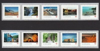 2 Years set = LARGE Coil strips 5 stamps = FROM FAR AND WIDE = Canada 2018-2019