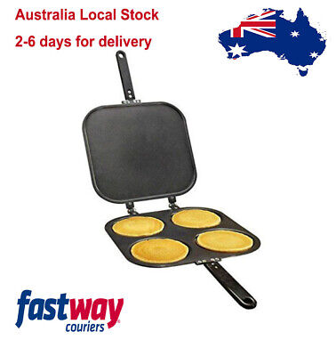 2-in-1 Four Perfect Pancake Maker Pan and Flip Jack Omelet Maker Eggs Crepes Pan