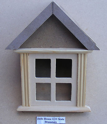 1:12 Scale Wooden Dormer Window 45 Degree Tumdee Dolls House Accessory 628
