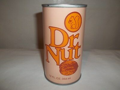 Dr Nut [Bottom Opened] Straight Steel Pull Tab Soda Pop Can Minty High Grade