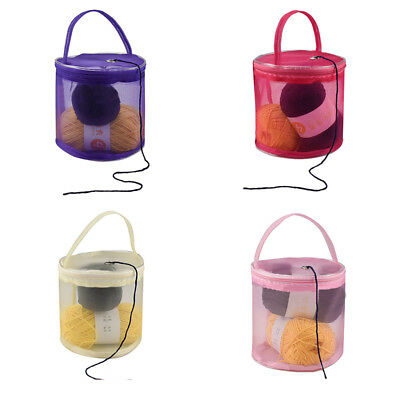 Knitting Storage Bag Mesh Yarn Wool Weaving Carry Pouch Nylon Organizer Tote