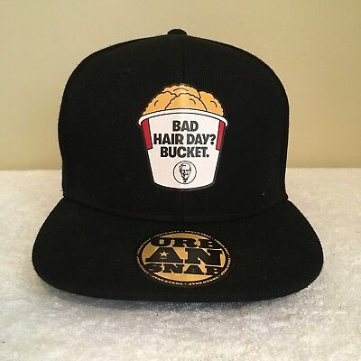 Bad Hair Day? Bucket KFC Kentucky Fried Chicken Black Adult Snapback Cap Hat
