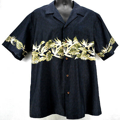 1980s RJC HAWIIAN SHIRT Size XL Hawaiin Made New w Tags by Robert J Clancey