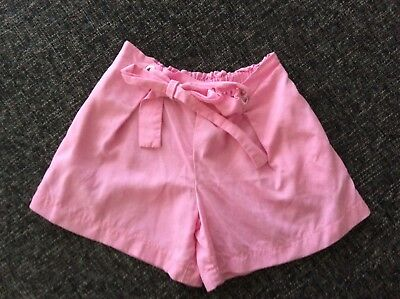 SEED girls pink tie front shorts sz9