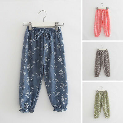 New Leggings Harem Pants Baby Summer Infant Casual Floral Kids Trousers Printed