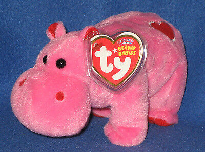 781389cf002 TY HUGAMUS THE HIPPO BEANIE BABY - NEW - MINT with MINT TAGS ...