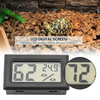 LCD Digital Aquarium Fish Tank Vivarium Reptile Hygrometer Thermometer Humidity