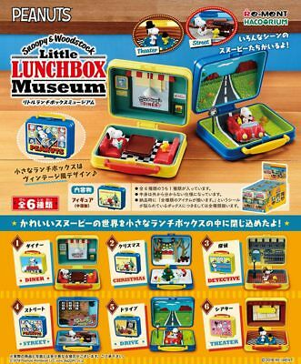 Re-ment Miniature Snoopy & Woodstock Little Lunch box Museum Full set of 6