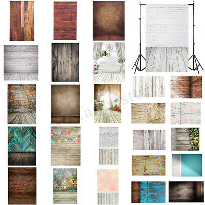 AU 5x7FT Wood Wall Floor Studio Photo Photography Backdrop Background Props