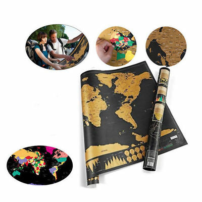 Journal World Map Deluxe Scratch Off  Personalized Travel Atlas Poster World
