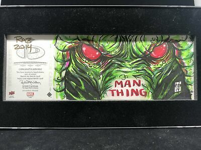 2016 Marvel Premier MAN-THING Raz Sketch Quad Panel 1/1
