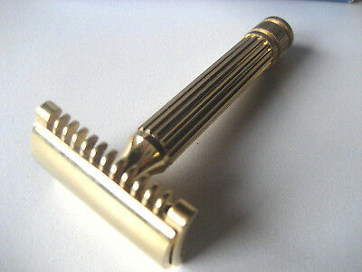 Rasoir de sécurité neuf Rasoi nuovo Safety razor FATIP gold New with case