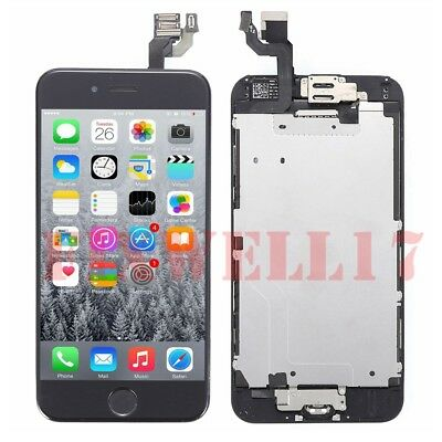 complet noir ecran pour iphone 6 + camera + home bouton + cadre lcd display