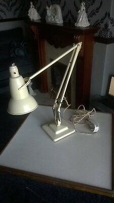 Vintage Herbert Terry & Sons Redditch Anglepoise Lamp With Crabtree Bulb Holder