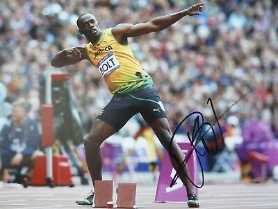 Usain Bolt Signed Photo London 2012 Olympics Limited Edition