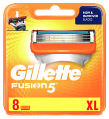 Gillette Fusion 5 Blades 8 Xl ( Light Orange Box )* Brand * New