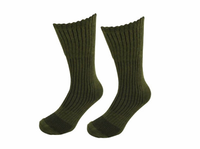 12 Pairs Boot Army Military Socks Heat Max Thermal Winter Socks Olive