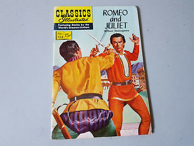 CLASSICS ILLUSTRATED No. 134 Romeo and Juliet - 15c - HRN 134 - 1st ed -