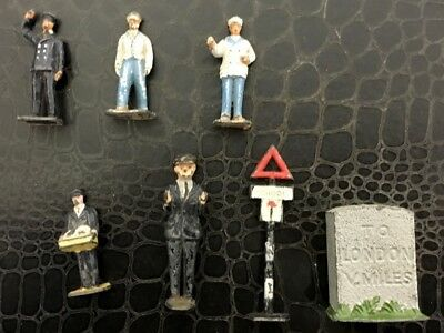 Various Vintage Gauge Lead Model Rail way Figures.