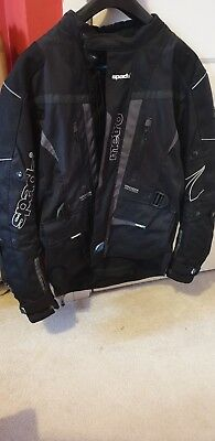 Spada Motorcycle Bike Metro Mens Black Gunmetal Waterproof Jacket