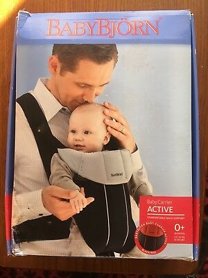 *NEW* Baby Bjorn Active Baby Carrier Black with Red Trim **FREE P&P**