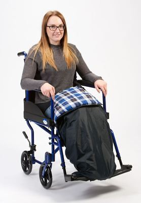 Water Resistant Wheelchair Padded Leg Cosy Blanket With Straps For Security
