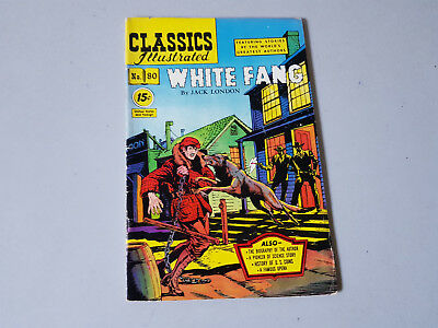 CLASSICS ILLUSTRATED No. 80 White Fang - 15c - HRN 87