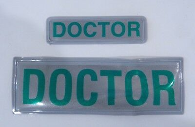 """DOCTOR"" Pair Encapsulated Reflective Paramedic Ambulance Medic Sew On Patch B1"