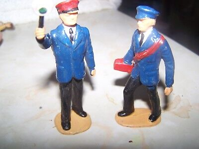 lot of 2 plastic standard gauge train men