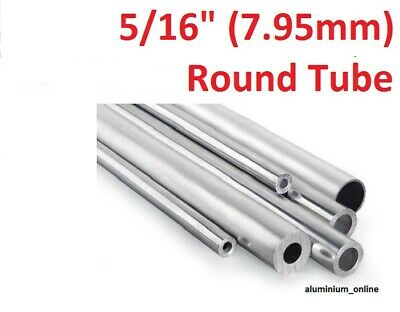 ALUMINIUM ROUND TUBE 5/16 (7.95mm) 2 thickness, lengths up to 2500mm 2.5m