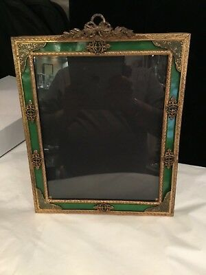 Rare Antique French Large Bronze Brass Increadable Picture Frame Must See No Res