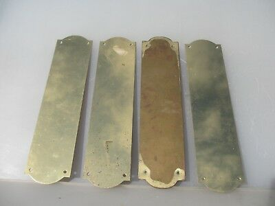 Late Vintage Solid Brass Door Handle Finger Push Plate Antique STYLE Old  -£10ea