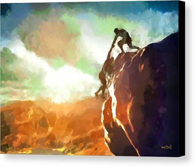 12 X 9 Helping Hand Canvas Print By Wayne Pascall Very