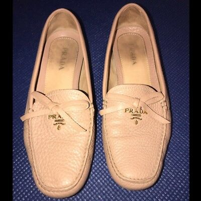 f823af5e959 PRADA Milano Leather Women s Flats Driving Moccasin Loafer Size 8 - 8 1 2