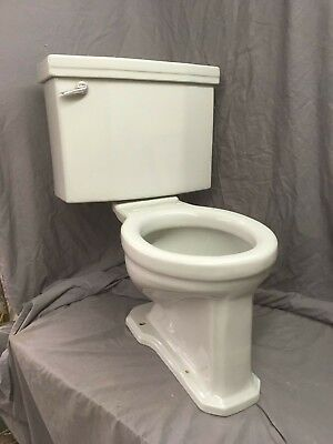 Vtg Mid Century Light Gray Art Deco Porcelain Toilet Old Standard Bath 20-19E