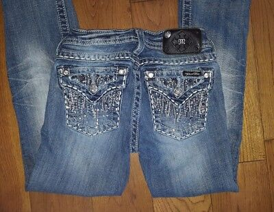 Miss Me Jeans, Size 12, Girls, Bootcut, Embellished, 48.